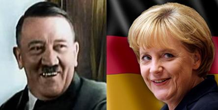 Hitler and Merkel