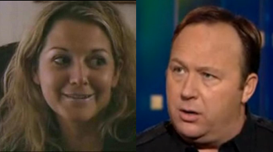 Kelly Nichols and Alex Jones