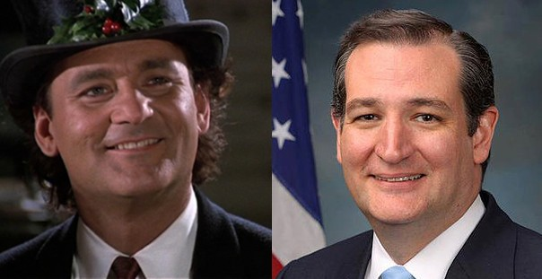 Bill Murray and Ted Cruz
