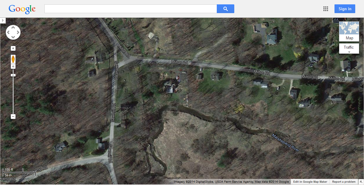 Benjamin Franklin's Home in Litchfield Conn. Milton Rd and Sawmill Rd (41-769951-73-271648)