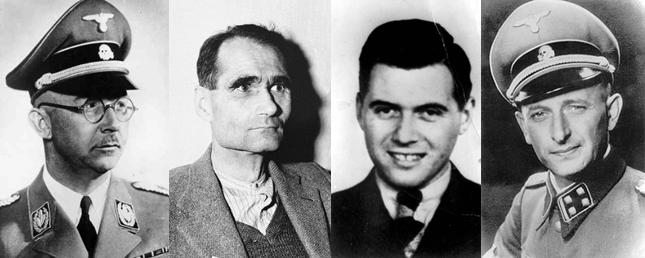 himmler-hess-mengele-eichmann-jew-nazis