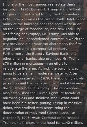 1976 Trump Deal of the century