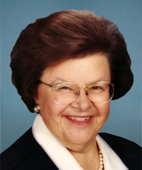 Sen. Barbara Mikulski Senator from Maryland, Democrat