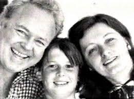 Carroll O'Connor, Hugh O'Connor and Nancy Fields O'Connor