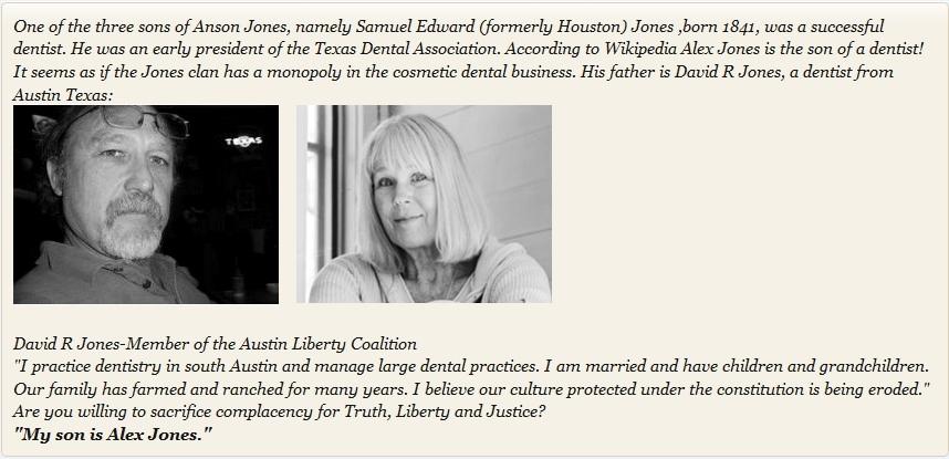 Alex Jones Surrogate 'Parents' Dr David R Jones and Carol Gretchen Hamman