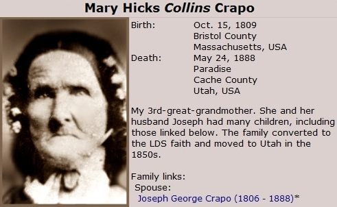 Mary Hicks Collins Crapo